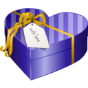download Valentines Day Gift Box 2 clipart image with 45 hue color