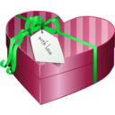 download Valentines Day Gift Box 2 clipart image with 135 hue color