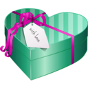 download Valentines Day Gift Box 2 clipart image with 315 hue color