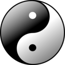 download Yin Yang clipart image with 0 hue color