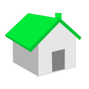 download Home Icon clipart image with 135 hue color