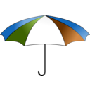 download Umbrella Colorful clipart image with 225 hue color