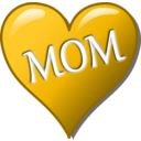 download Mothers Day Heart clipart image with 45 hue color
