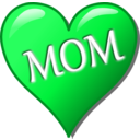 download Mothers Day Heart clipart image with 135 hue color