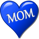 download Mothers Day Heart clipart image with 225 hue color