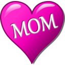 download Mothers Day Heart clipart image with 315 hue color