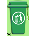 download Dog Trash Can clipart image with 45 hue color