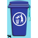 download Dog Trash Can clipart image with 135 hue color