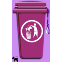 download Dog Trash Can clipart image with 225 hue color