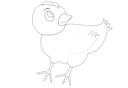 Chicken 001 Vector Coloring
