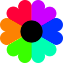 download Flower 7 Colors clipart image with 45 hue color