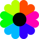 download Flower 7 Colors clipart image with 135 hue color