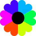 download Flower 7 Colors clipart image with 315 hue color