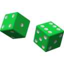 download Two Red Dice clipart image with 135 hue color