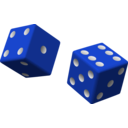 download Two Red Dice clipart image with 225 hue color
