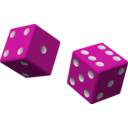 download Two Red Dice clipart image with 315 hue color