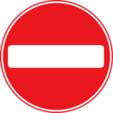 Roadsign No Entry