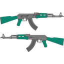 download Ak 47 Rifle Vector Drawing clipart image with 135 hue color