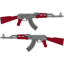 download Ak 47 Rifle Vector Drawing clipart image with 315 hue color