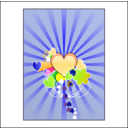 download Hearts With Blue Rays clipart image with 45 hue color
