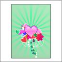 download Hearts With Blue Rays clipart image with 315 hue color