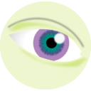 download Eye Tutorial clipart image with 45 hue color