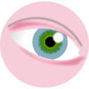 download Eye Tutorial clipart image with 315 hue color