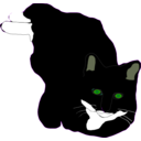 download Feline clipart image with 45 hue color