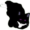 download Feline clipart image with 225 hue color