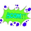 download Boom clipart image with 45 hue color