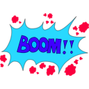 download Boom clipart image with 135 hue color