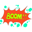 download Boom clipart image with 315 hue color