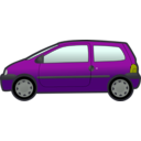 download Blue Twingo clipart image with 45 hue color