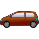 download Blue Twingo clipart image with 135 hue color