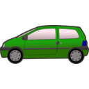 download Blue Twingo clipart image with 225 hue color