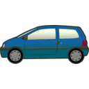 download Blue Twingo clipart image with 315 hue color
