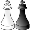 download Black And White Kings D R clipart image with 45 hue color