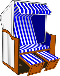 Strandkorb comic  Beach Chair Clipart | i2Clipart - Royalty Free Public Domain Clipart