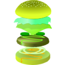 download Hamburger clipart image with 45 hue color