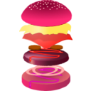 download Hamburger clipart image with 315 hue color
