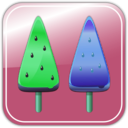 download Melon Ice Candies clipart image with 135 hue color
