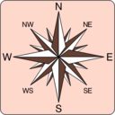 download Wind Rose Icon clipart image with 135 hue color