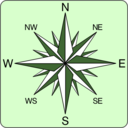 download Wind Rose Icon clipart image with 225 hue color