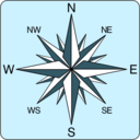 download Wind Rose Icon clipart image with 315 hue color