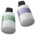 download Bottles Of Dye Ink clipart image with 135 hue color