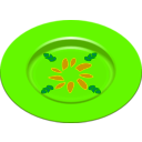 download Party Dish 2 clipart image with 45 hue color