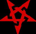Pentagramme Rouge Et Noir