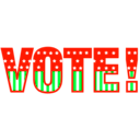 download Vote 01 clipart image with 135 hue color