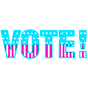 download Vote 01 clipart image with 315 hue color
