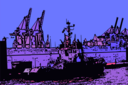 Illustration Hamburger Hafen
